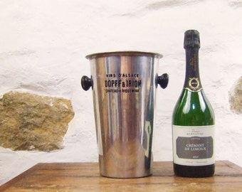 French Wine bucket ice cooler bottle champagne narrow vase Alsace simple