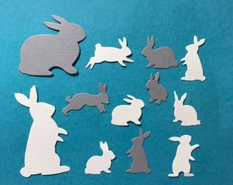 Easter Bunny Die Cuts x 22 for Scrapbooking Cards and Paper Crafts Scatters Card Toppers