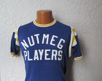 60's/70's Vintage Rayon Sport Jersey Irish Players med.
