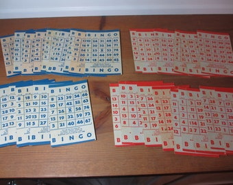 Lot of 32 Vintage Bingo Cards, Scrapbooking, Crafts, Altered Art