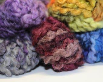 Wool felting yarn - thick thin