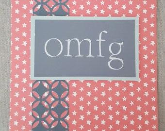 OMFG Handmade Card