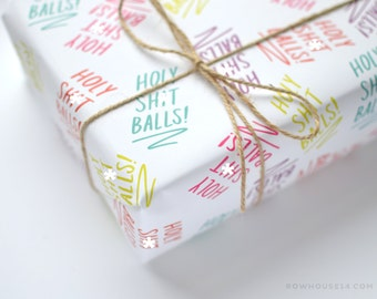 Funny Gift Wrap - Wrapping Paper - Gift Wrap Sheets - Mature