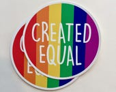 created equal | LGBT rights | equal rights vinyl sticker