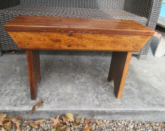 Recycled Oak Wood Bench/Footstool/Plant Stand
