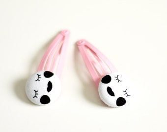 Sleepy Eyes Hair Clips - Baby First Christmas Gift - Toddlers Hair Clip - Baby Hair Accessory
