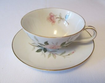 Picardy by Contour China Tea Cup and Saucer Made in Japan