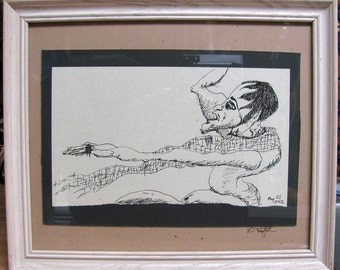 The Measure - framed drawing