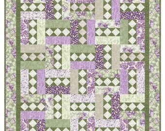Quilt Pattern - City Lights Spring - Beautiful Pattern makes sizes Crib to King - PDF INSTANT DOWNLOAD