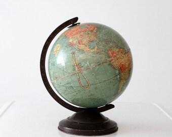 Replogle globe circa 1939, vintage world globe, 10 inch globe