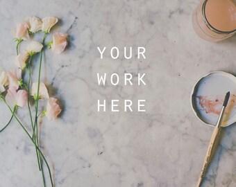 Styled Desktop, Stock Photography, Social Media Photo, Instagram, Stock Photo, Mockup, Floral Mockup, Mock Up, flatlay