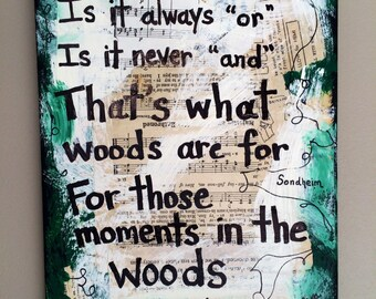 Into the woods Music art painting broadway singer gift musical theater theatre Sondheim musician singer gift mixed media PRINT