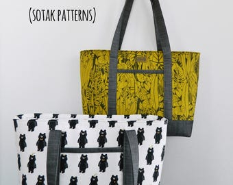 bag pattern, instant download, pdf pattern, handbag, purse, sewing, patterns, sew, bag, sotak patterns, bag, diy, tote bag, bag patterns