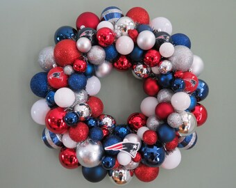 Reserved:   NEW ENGLAND PATRIOTS Ornament Wreath Super Bowl