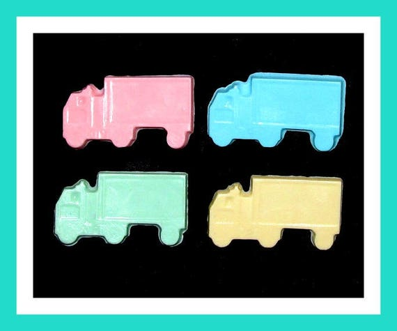 24 Truck Soap Favors,Baby Shower Favors,Birthday Party Favors,Personalized Button Pin,Boy Birthday Favors,Girl Birthday Favors,Kid Soaps