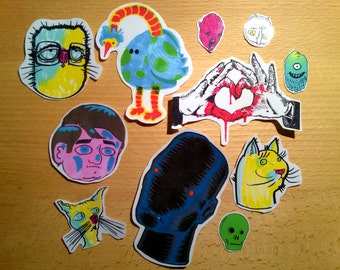 random pack of 11 stickers