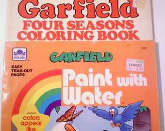 GARFIELD Coloring and Paint with Water Books