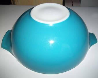 Blue Pyrex#444 The largest of the Blue Horizon set, Cinderella  Mixing Bowl 4 Quart