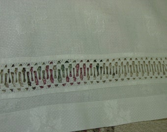 Antique/Vintage Guest Towel, White with Coronation Cord Trim, Beautiful