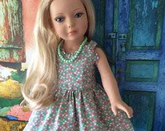 """American Made Girl Doll Clothing-Custom Couture Retro Style Sundress Will Fit 18 Inch Dolls Like Robert Tonner's """"My Imagination™"""" and More."""