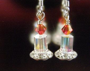 Swarovski Candle Earrings