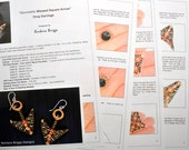 """Tutorial for the """"Geometric Warped Square Arrow"""" Drop Earrings And Variations"""