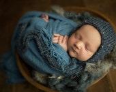 RTS! Newborn Tweed Fall Bonnet, dark gray