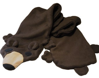 Fleece Bear Scarf