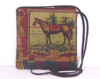 Stately Horse on Upholstery Fabric, Caryn Crossbody Pouch