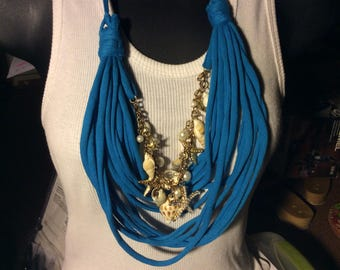 Repurposed T Shirt necklace