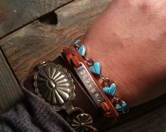 New Sticks and Stones  line, 'Rebound' leather Bracelet