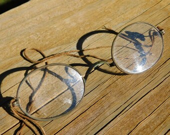 Antique Spectacles Eyeglasses As Found with String