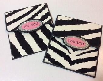 Birthday gift card holders (2) bachelorette gift card spa gift card