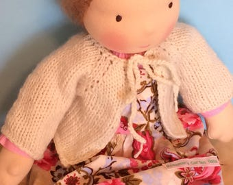 Waldorf Doll Knit Sweater for 15/16 Inch Waldorf Doll  **Natural**