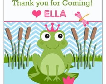 Frog Princess Personalized Favor Tags Printable -  Frog Princess Collection