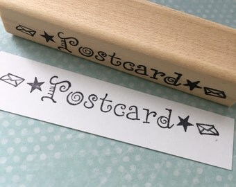 Postcard Stamp Rubber Stamp