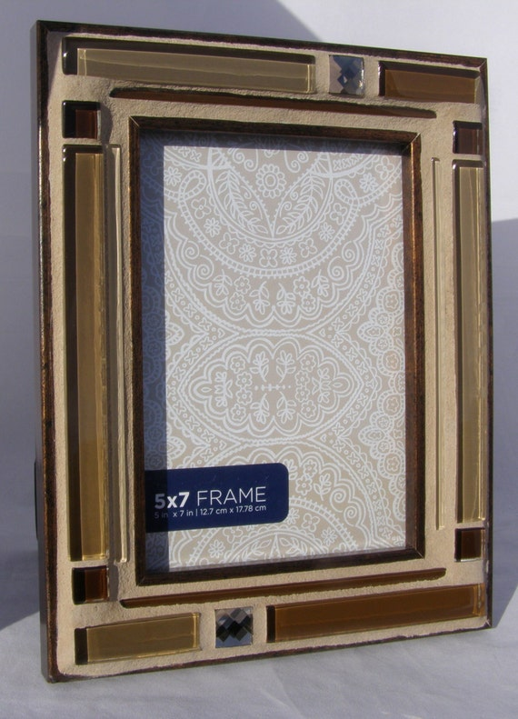 brown copper 5 x 7 photo frame glass picture by breakitupdesigns. Black Bedroom Furniture Sets. Home Design Ideas