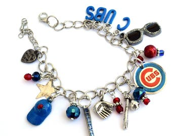 Chicago Cubs Baseball Bracelet -Take Me Out to the Ballgame!