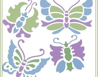 Butterfly SVG, Asian Butterflies svg, glass block design, vinyl cutting, greeting cards, iron on transfer, scrapbooks, vinyl mailbox svg