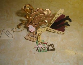 vintage metal ornament silverstri karen rossi born to shop credit card fanciful flights