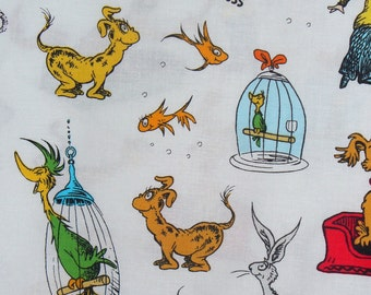 What Pet Should I Get, Robert Kaufman, Dr Seuss, Childhood Books, Tossed Style,  By the Yard, Cotton Fabric