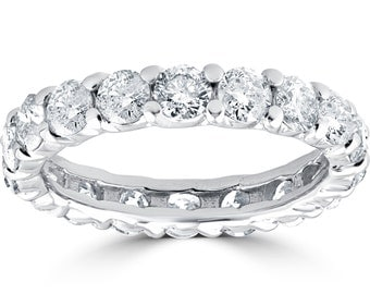 3 1/2CT Diamond Eternity Ring 14K White Gold