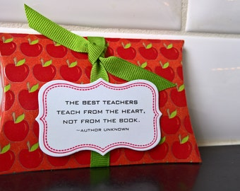 Teacher Appreciation Gift Card Holder, Valentine Teacher Gift, Gift Card Envelope, Gift Wrap, Pillow Box, Thank You Gift, Thank You Card