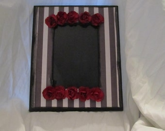 Gothic Roses and Stripes 5x7 Wall Picture Frame