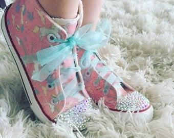 Unicorn Custom Canvas High Tops - Youth