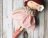 Hope ~ SpunCandy Classic Doll, Heirloom Quality Doll, Modern Rag Doll, Nursery Decor, Kids Decor, Fabric Doll, Cloth Doll, Handmade Doll