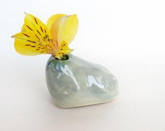 Mini Bud Vase. Rock. Ceramic Vase. Handmade Pottery. Modern Ceramics