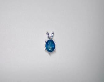 Oval Ceylon Blue Sapphire pendant