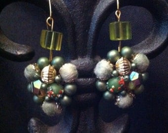 Vintage Recycled Earrings