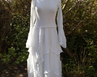 White Layered Long Dress